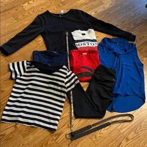 Lot of size small clothes - tshirts sweaters belts